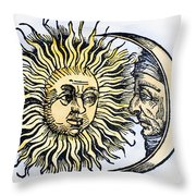 Sun And Moon, 1493 Throw Pillow