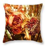 Sun And Rose Throw Pillow
