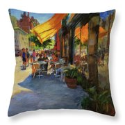 Sun And Shade On Amsterdam Avenue Throw Pillow