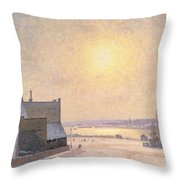 Sun And Snow Throw Pillow by Per Ekstrom