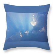 Storm Clouds And Sun Throw Pillow