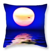 Sun And Water Throw Pillow
