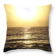 Sun At Sea Throw Pillow