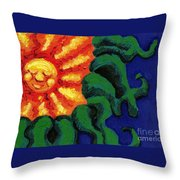 Sun Baby Throw Pillow by Genevieve Esson