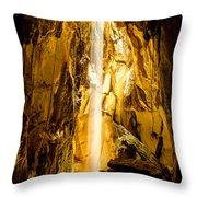 Sun Beam In Cave. Throw Pillow