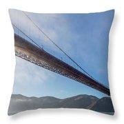 Sun Beams Through The Golden Gate Throw Pillow by Scott Campbell