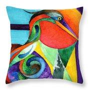 Sun Bird Throw Pillow
