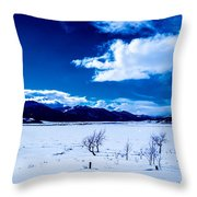 Sun Break On The Lake Throw Pillow