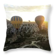 Sun Breaks The Horizon Throw Pillow