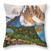 Sun Burst Peak Canada  Throw Pillow