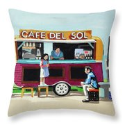 Sun Coffee Throw Pillow