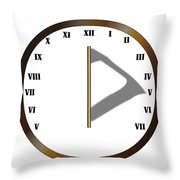 Sun Dial Face Throw Pillow