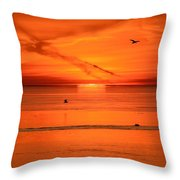 Sun Disk Behind The Cloud  Throw Pillow