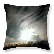 Sun Dog And Sunshine Throw Pillow