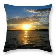 Sun Down Day Throw Pillow