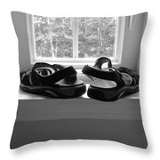 Sun Dried Sandals Throw Pillow