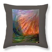 Sun Field Throw Pillow