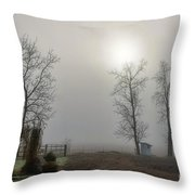 Sun Filtered Through Fog Throw Pillow