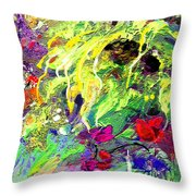 Sun Flower Bouquet Throw Pillow