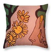 Sun Flower Conection Throw Pillow