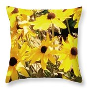 Sun Flower Glory Throw Pillow