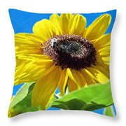 Sun Flower - Id 16235-142743-3974 Throw Pillow