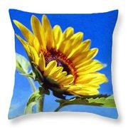 Sun Flower - Id 16235-142812-7136 Throw Pillow