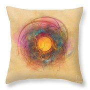 Sun Fractal Abstract Art Throw Pillow