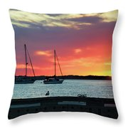 Sun Gazing Throw Pillow