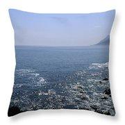 Sun Glints Off Te Ocean Near Cape Throw Pillow