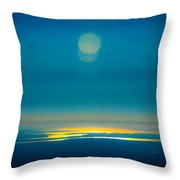 Sun Going Down On The Sound Throw Pillow