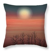 Sun Going To Bed Throw Pillow