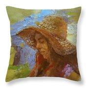 Sun Hat #1 Throw Pillow