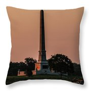 Sun Hitting The United States Regular Monument Throw Pillow