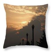 Sun In A Cloud Of Glory Throw Pillow