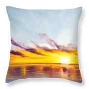 Sun In A Lake Throw Pillow
