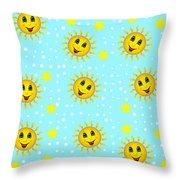 Sun Jammies Throw Pillow