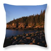 Sun Kissed Acadia Throw Pillow