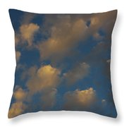 Sun Kissed Clouds Throw Pillow