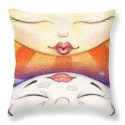 Sun Kissed Moon Throw Pillow