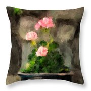 Sun Kissed Pinks Throw Pillow