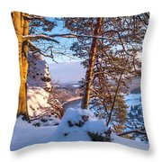 Sun-kissed. Saxon Switzerland Throw Pillow