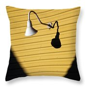 Sun Lamp Throw Pillow by Dave Bowman