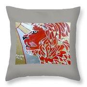 Sun Lion Throw Pillow