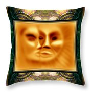 Sun Loves Moon Montage Throw Pillow