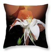 Sun Maiden Throw Pillow