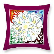 Sun Moon And Earth Throw Pillow
