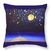 Sun Moon And Stars Throw Pillow