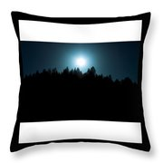Sun Night Throw Pillow