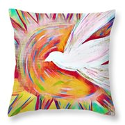 Healing Wings Throw Pillow